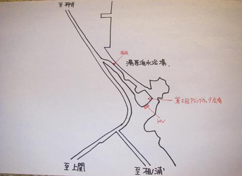 湯原海水浴場周辺地図