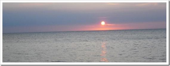 山陰の日没