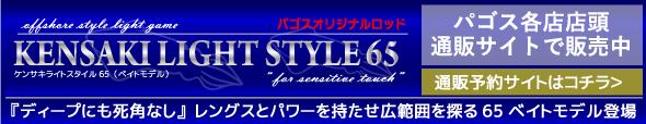 ゴーティーGoateeケンサキライトスタイル65ベイト
